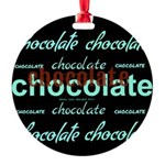 Celebrate Dark Chocolate Round Ornament