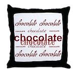 Celebrate Chocolate Throw Pillow