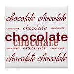 Celebrate Chocolate Tile Coaster