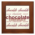 Celebrate Chocolate Framed Tile