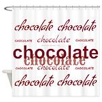 Celebrate Chocolate Shower Curtain