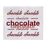 Celebrate Chocolate Throw Blanket