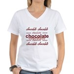 Celebrate Chocolate Women's V-Neck T-Shirt