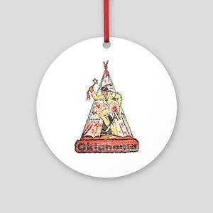 Vintage Oklahoma Indian Ornament (Round)