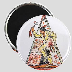 Vintage Oklahoma Indian Magnet