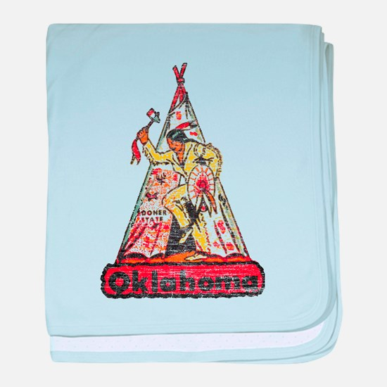 Vintage Oklahoma Indian baby blanket