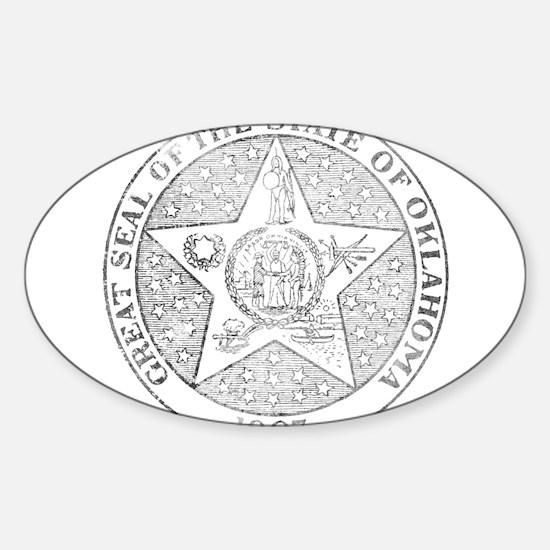 Vintage Oklahoma State Seal Decal