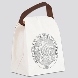 Vintage Oklahoma State Seal Canvas Lunch Bag