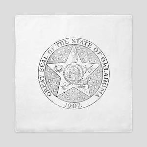 Vintage Oklahoma State Seal Queen Duvet