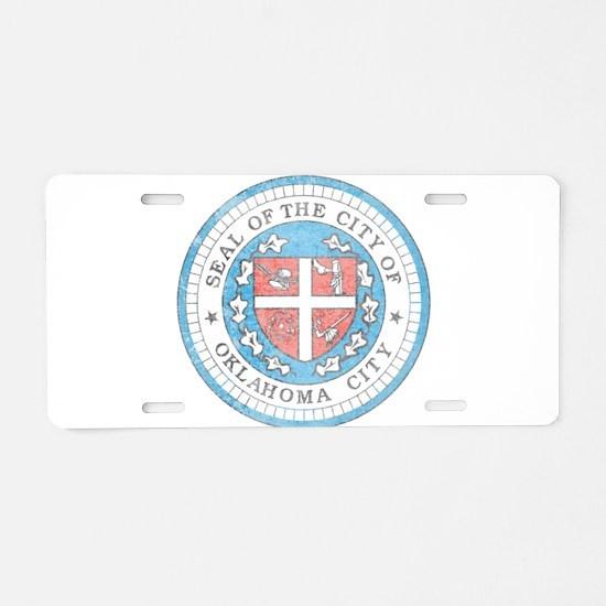 Vintage Oklahoma City Aluminum License Plate