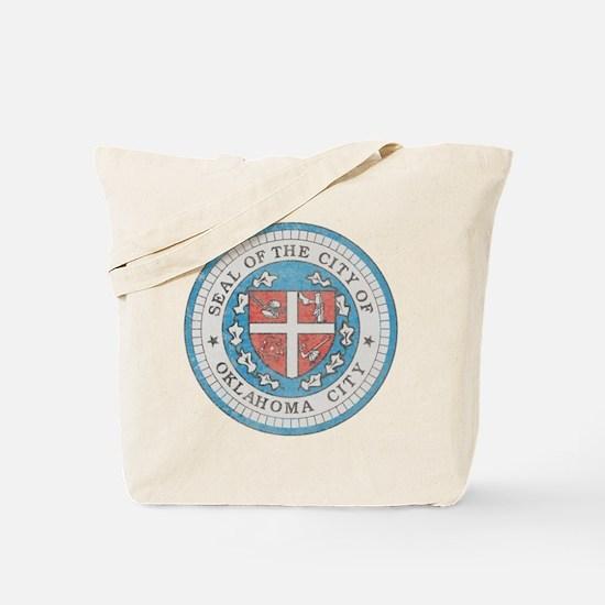 Vintage Oklahoma City Tote Bag