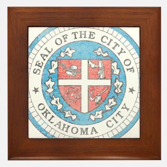 Vintage Oklahoma City Framed Tile