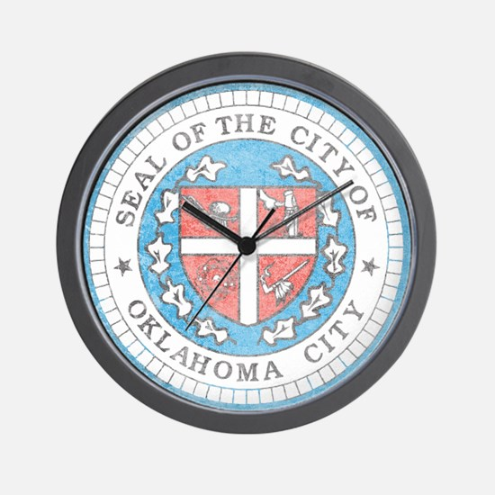Vintage Oklahoma City Wall Clock