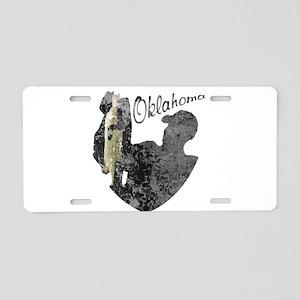 Oklahoma Fishing Aluminum License Plate