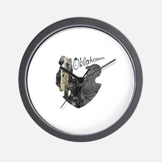 Oklahoma Fishing Wall Clock