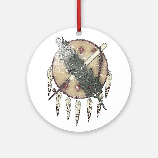 Faded Dreamcatcher Ornament (Round)