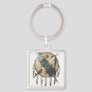 Faded Dreamcatcher Square Keychain