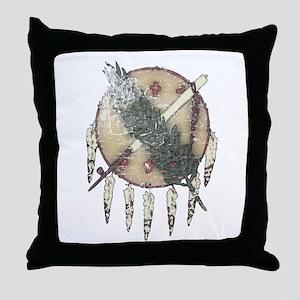 Faded Dreamcatcher Throw Pillow
