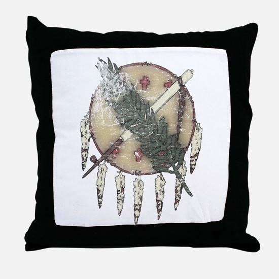 Faded Dreamcatcher Throw Pillow