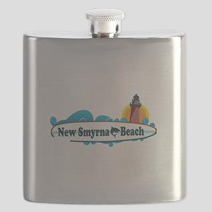 New Smyrna Beach - Surf Design. Flask