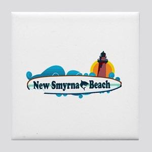 New Smyrna Beach - Surf Design. Tile Coaster