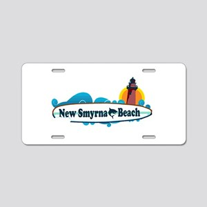 New Smyrna Beach - Surf Design. Aluminum License P