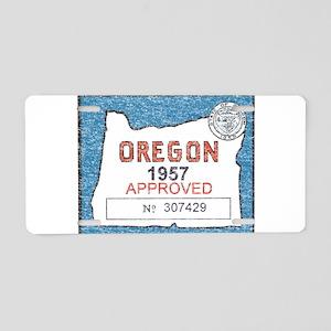 Vintage Oregon Registration Aluminum License Plate