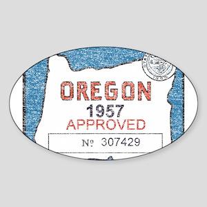 Vintage Oregon Registration Sticker