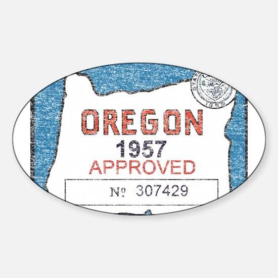 Vintage Oregon Registration Decal