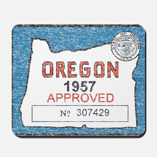 Vintage Oregon Registration Mousepad