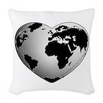 World Worth Wandering Woven Throw Pillow