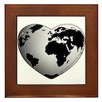 World Worth Wandering Framed Tile