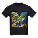 The City I Abstract Kids Dark T-Shirt