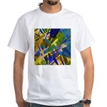 The City I Abstract White T-Shirt