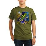The City I Abstract Organic Men's T-Shirt (dark)