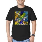 The City I Abstract Men's Fitted T-Shirt (dark)