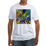 The City I Abstract Fitted T-Shirt