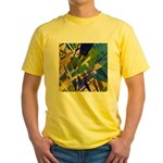 The City I Abstract Yellow T-Shirt