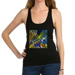 The City I Abstract Racerback Tank Top
