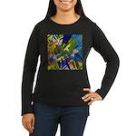 The City I Abstra Women's Long Sleeve Dark T-Shirt