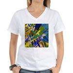 The City I Abstract Women's V-Neck T-Shirt