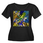 The City Women's Plus Size Scoop Neck Dark T-Shirt