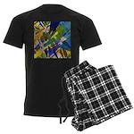 The City I Abstract Men's Dark Pajamas