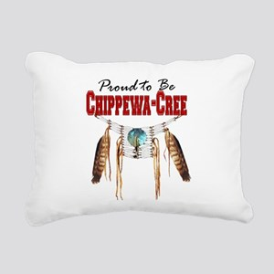 Proud to be Chippewa-Cree Rectangular Canvas Pillo