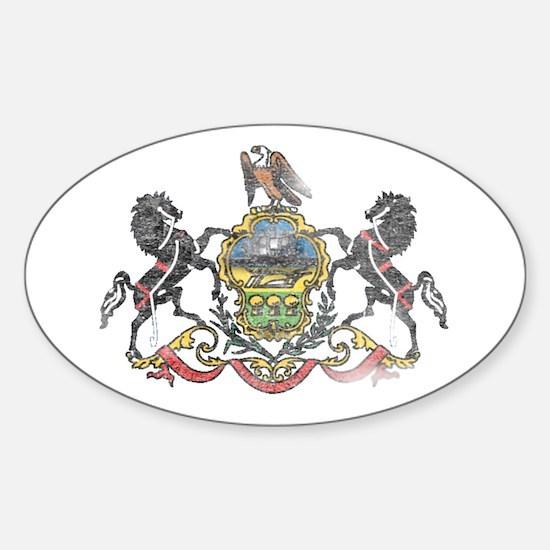 Pennsylvania Vintage State Flag Decal