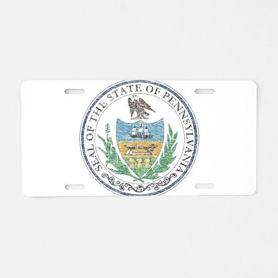 Vintage Pennsylvania Seal Aluminum License Plate