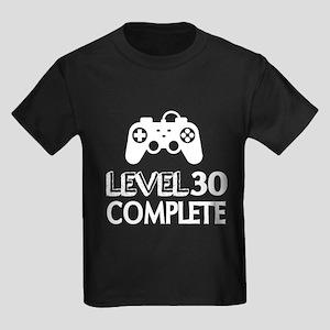 Level 30 Complete Birthday Desig Kids Dark T-Shirt