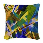 The City I Abstract Woven Throw Pillow