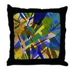 The City I Abstract Throw Pillow