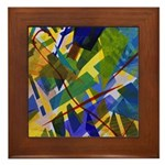 The City I Abstract Framed Tile